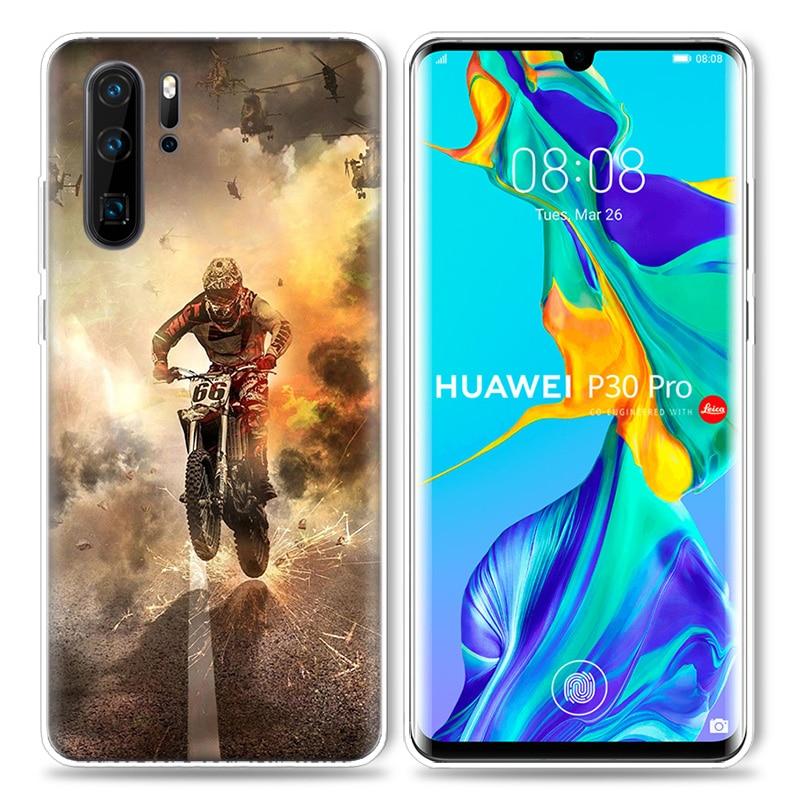 טלויזיות, פלאזמות, LCD Case מוטוקרוס אופנועים dirtbikes הצלב עבור Huawei P20 P30 P חכם Z פלוס נובה 5 5i P10 Mate P9 10 20 lite סיליקון פרו תיקים טלפון (4)