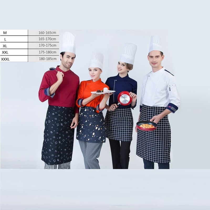 10pc S Master Wear Long Sleeved Clothes Kitchener Uniforms Chef Restaurant Kitchen Suits Chief Master Uniform Ventilation By