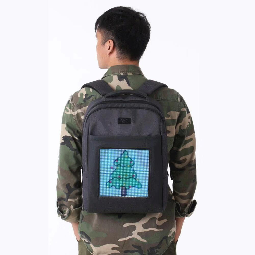 FREE SHIPPING NEW HOT Full Color Led Dynamic Backpack Wifi Control Led Screen Text Photo Animation Led Display Advertising