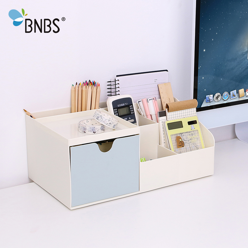 BNBS High Quality Small Drawer Offices Desktop Shelves Storage Box Desk Decor Stationery Makeup Cosmetic Organizer for Jewelry
