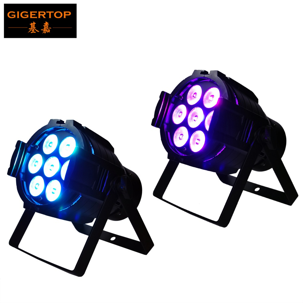 Freeshipping 2pcs/lot 7x10W Tyanshine RGBW Led PAR CAN PRO DJ DMX/AUTO/SOUND 4in1 WEDDIN ...