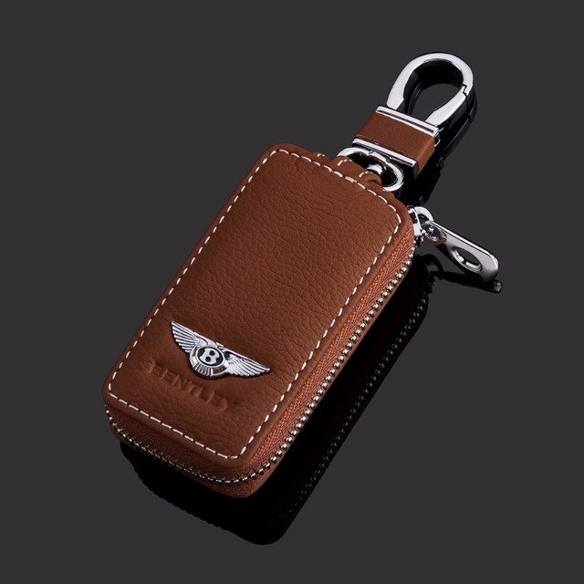 Leather Car Key Wallet For Bentley (4 Colors)