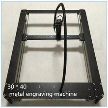 Machine à graver au laser, machine à graver, corps en métal noir à bricolage, zone de gravure 2016 mW 30x40cm