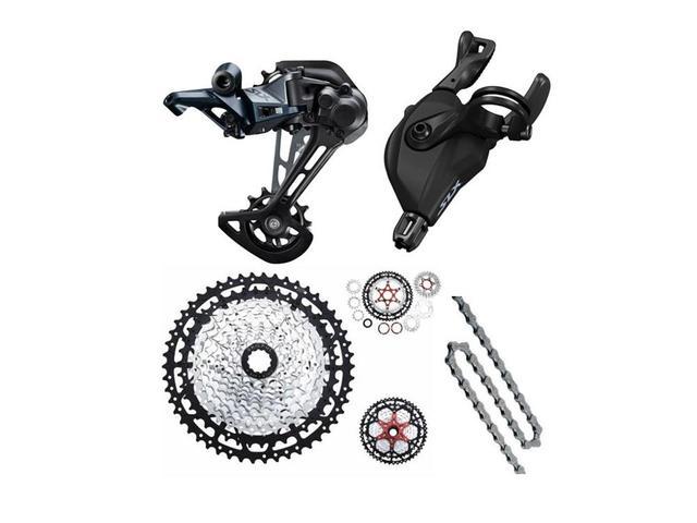 SHIMANO SLX groupset M7100 12s MTB bicicleta Shifter Gatilho + desviador traseiro + cadeia YBN + cassete em tempo hábil 11-50T