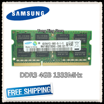 Samsung Laptop memory DDR3 4GB 1333MHz PC3-10600S notebook computer RAM 10600 4G original