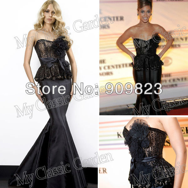 655aeb482beb Beyonce Knowles Select Zuhair Murad Sweetheat Lace Flowers Top Natural  Waist Full Length Mermaid Formal Celebrity Dresses Gowns