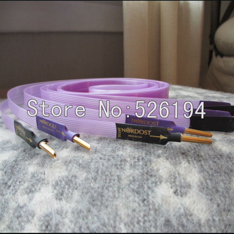 Free Shipping Nordost Purple Flare speaker cable with banana plugs 2.5 meter/pair цены онлайн