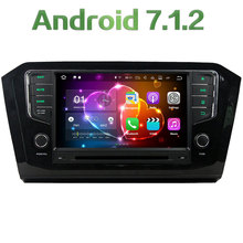 "Android 7.1.2 Quad Core 2 GB RAM 16 GB ROM HD 8 ""pulgadas coche Radios estéreo 7 pulgadas Coche reproductor de DVD Bluetooth para Volkswagen Passat 2015"