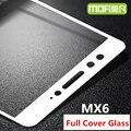 Meizu mx6 vidro temperado completa cobertura mofi original meizu mx 6 proteção protetor de tela de proteção filme de vidro preto branco 5.5