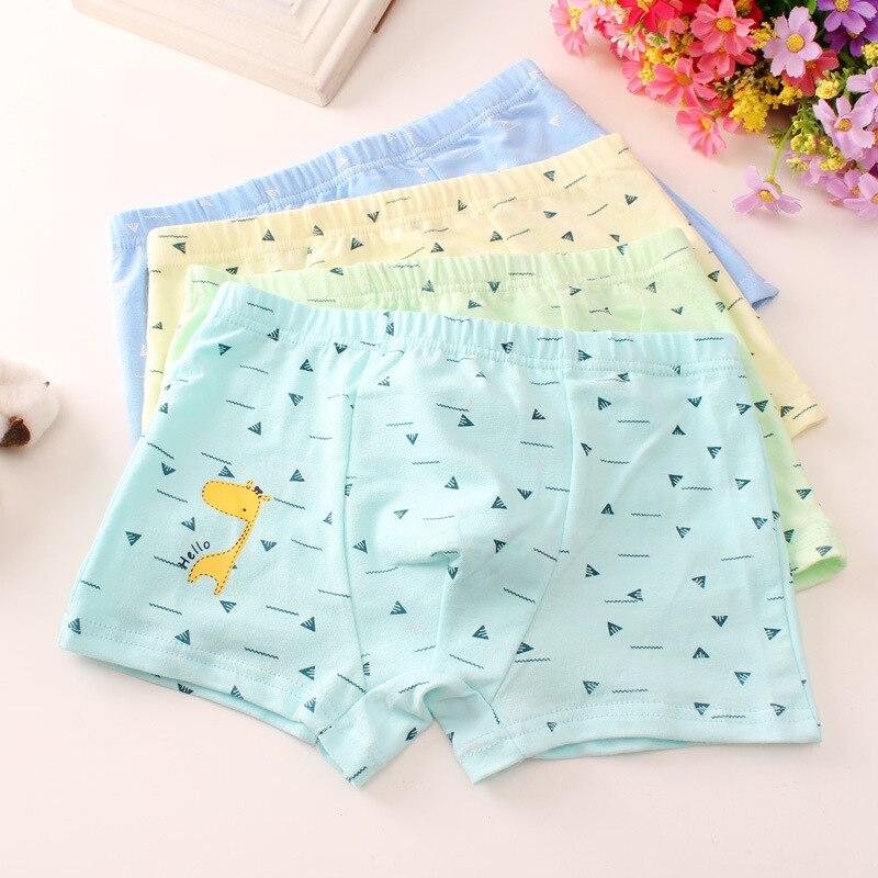 Shorts Children's Underwear Boy's Cotton Flat Horn Underwear Big Boy's Four-angle Underwear Tobani 4ps