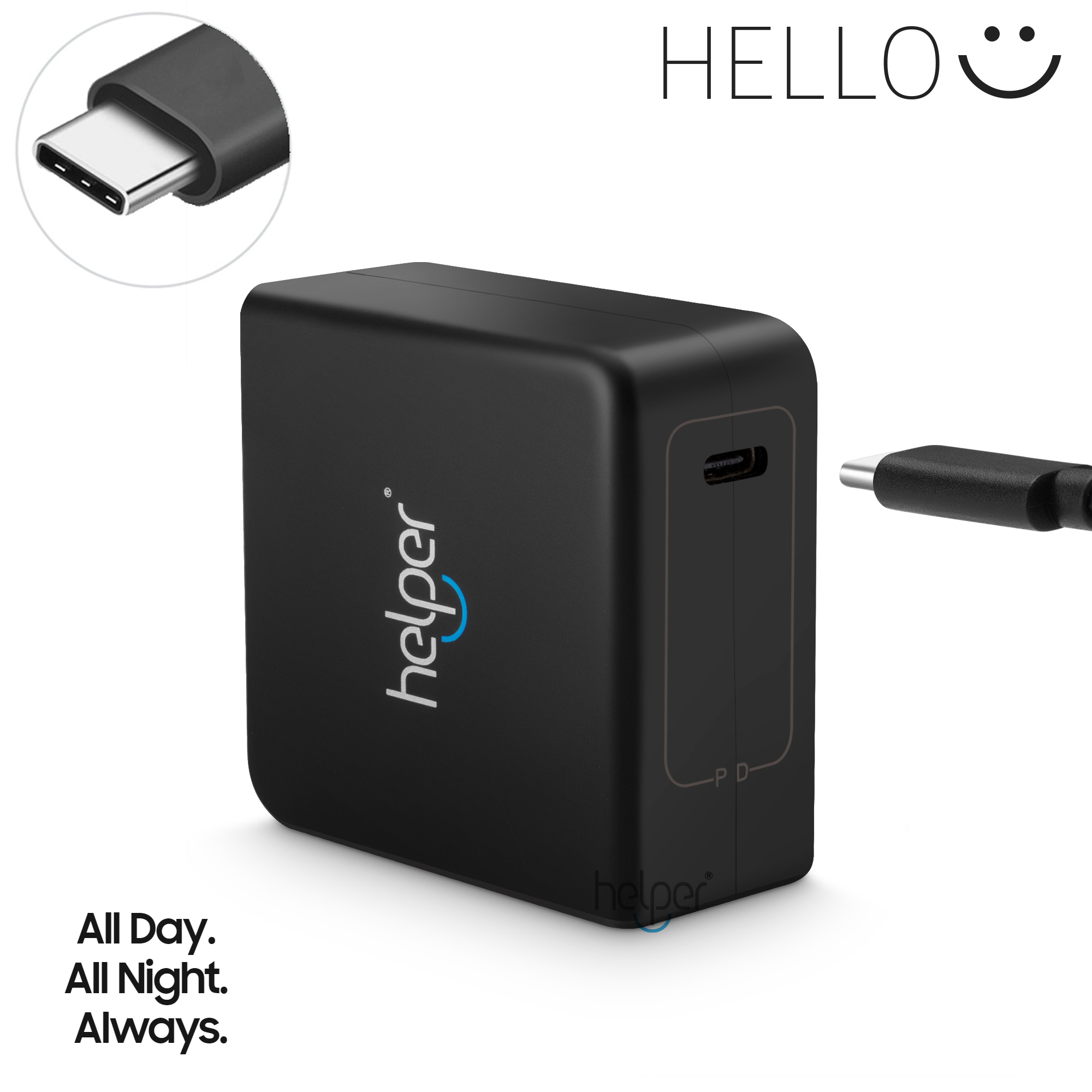 Helper USB Type C PD Wall Charger Fast Charging Power Adapter for Elite x2 CHIWEI Thinker usb type c pd wall charger fast charging power adapter for new macbook pro dell 9350 acer r13 samsung asus hp