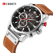 CURREN 8291 Luxury Brand Men Analog Digital Leather Sports Watches