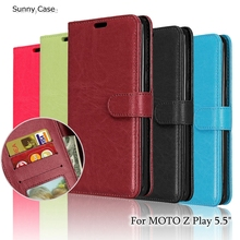 "PU Leather Case For Motorola MOTO Z Play Covers 5.5"" Wallet Stand Holder Flip Cover For Motorola ZPlay XT1635 Cases Phone Fundas"