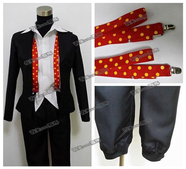 kompletní sada Juzo Suzuya Rei uniforma Tokyo Ghoul Cosplay kostým pro halloween (kabát + košile + kalhoty + podvazky + noha stráž)