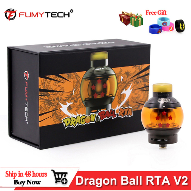 In Stock! fumytech Dragon Ball RTA V2 RDTA 5.5ml Vape Tank Atomizer Capacity Top Refill e cigarette Atomizer vs INTAKE RTA Tank