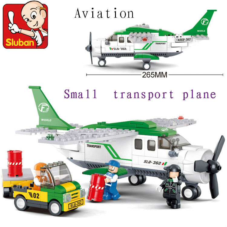 Sluban 251pcs M38-B0362  aviation Air transport plane discount Plastic building blocks set eductional bricks blocks kids diy toy solar military transport plane baron p320 jigsaw puzzle building blocks environmental diy toy