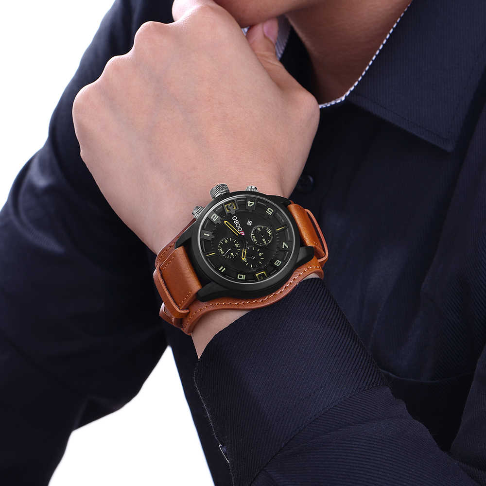 Relogio masculino DOOBO นาฬิกาผู้ชายทหารนาฬิกาควอตซ์นาฬิกาข้อมือยอดนิยมแบรนด์หนังหรูนาฬิกาข้อมือกีฬาวันที่นาฬิกา 8225