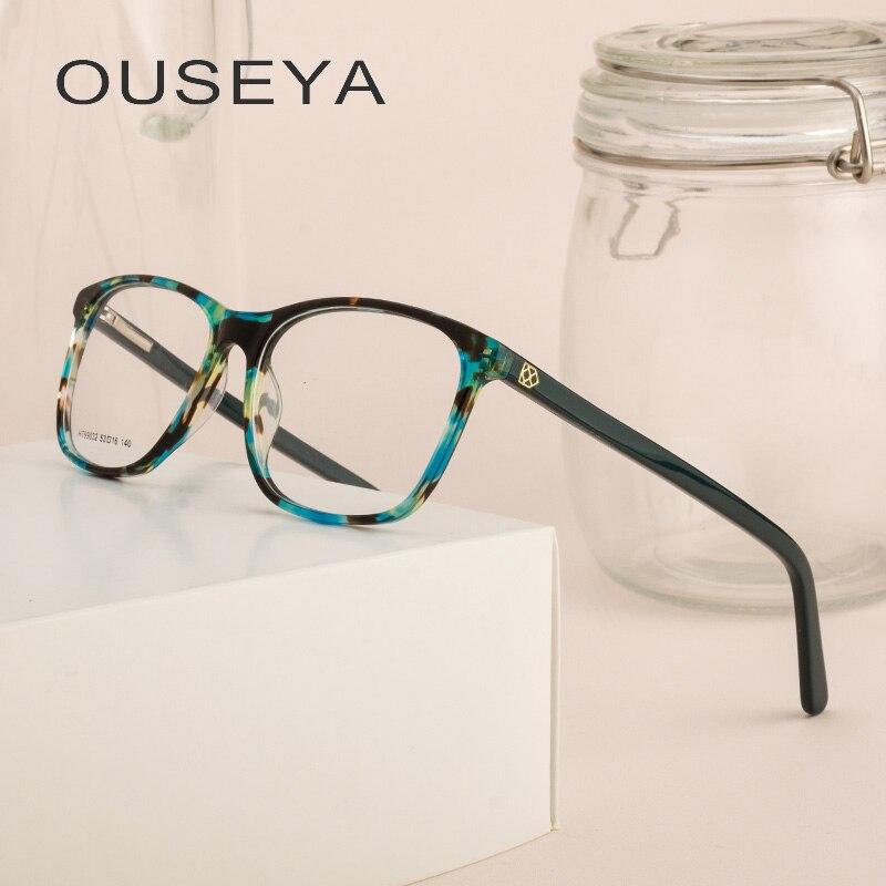 Acetat Frauen Gläser Rahmen Frauen Gläser Retro Vintage Klare Linse Transparent Brillen Rahmen Brillen # Ht99032 Hindernis Entfernen Damenbrillen Brillenrahmen