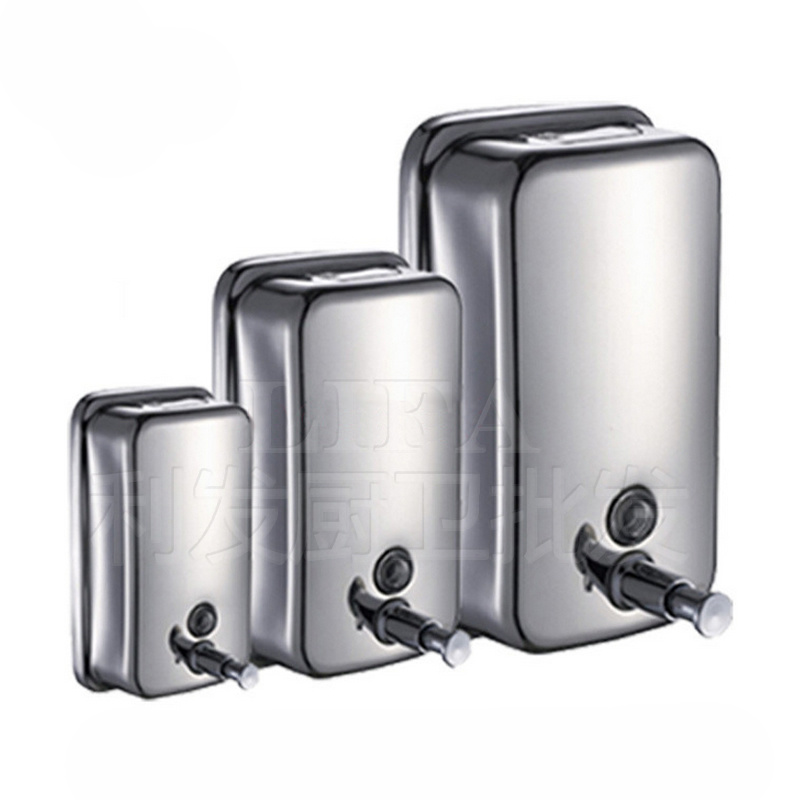 Various Sizes of Stainless Steel Manual Soap Dispenser 500ml 800ml Wall-mounted Shampoo Disinfectant to Soap Soap Dispenser Wall