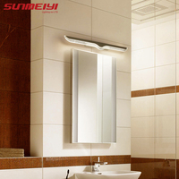 40CM 120CM Mirror light led bathroom wall lamp mirror glass waterproof anti fog brief modern stainless steel cabinet led light