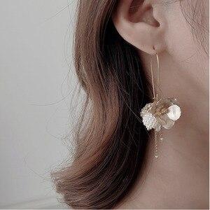 Korea earrings pearl luxury ge
