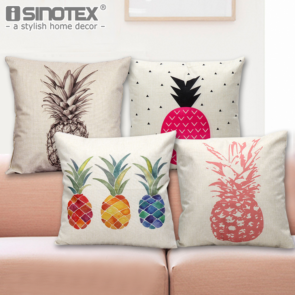 pineapple cushion cover pillowcase linen bed car hotel. Black Bedroom Furniture Sets. Home Design Ideas