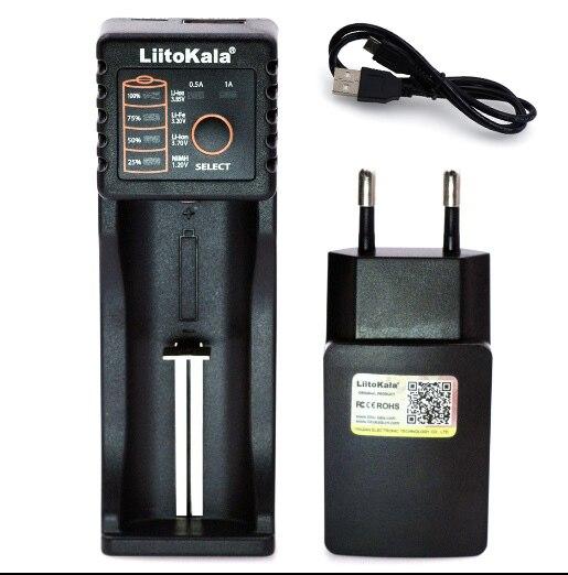 Liitokala Lii402 Lii202 Lii100 LiiS1 18650 Charger 1.2V 3.7V 3.2V AA/AAA 26650 NiMH li-ion battery Smart Charger 5V 2A EU Plug 3