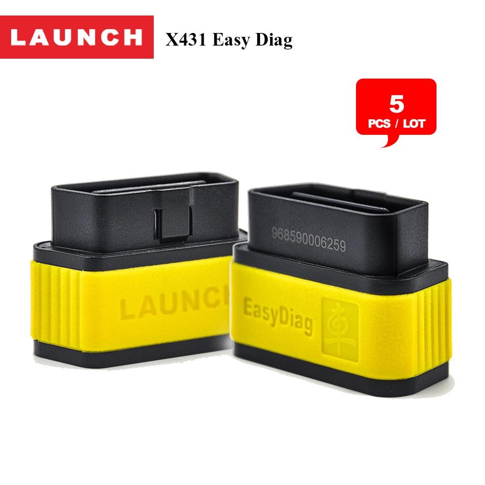 5pcs/lot Launch X431 EasyDiag 2.0 / plus diagnosis auto/car universal diagnostic scanner tool with bluetooth obd2 eobd2 adapter elm327 v1 5 bluetooth obd2 obd ii car auto diagnostic scanner tool