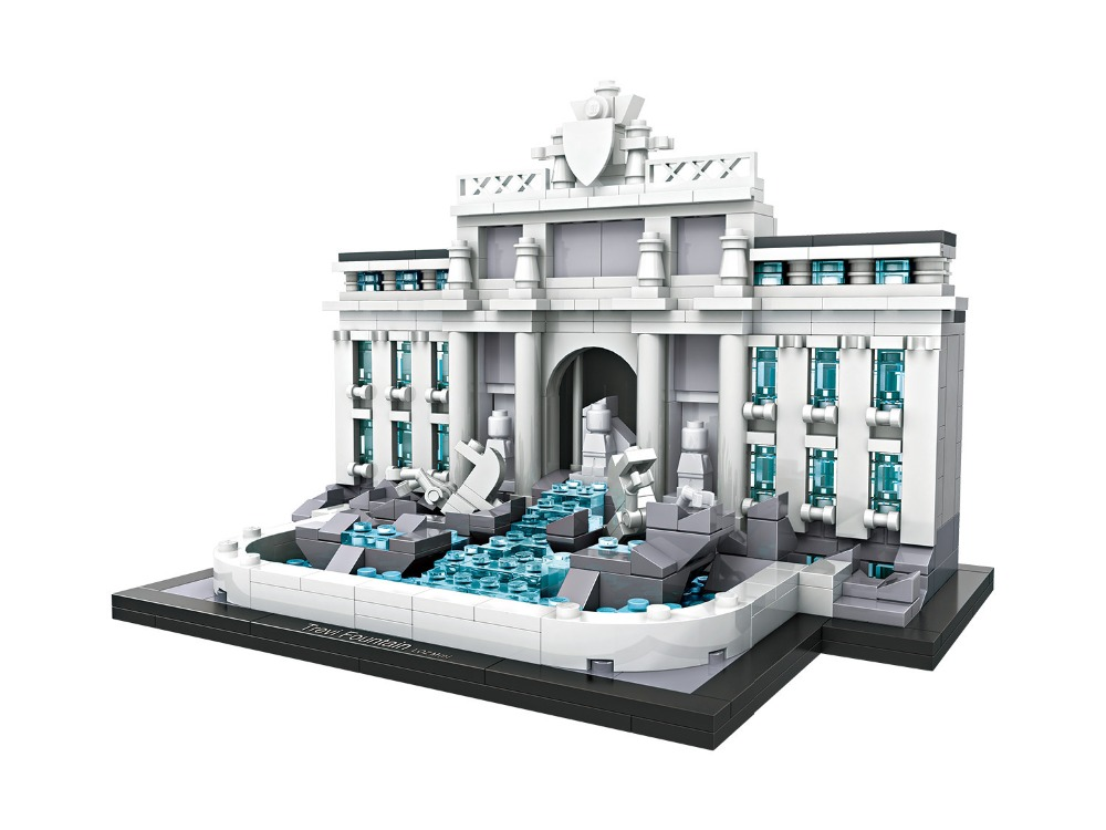 LOZ Trevi Fountain World Famous Classic Architecture Assembe Building Blocks bricks Educational Birthday Gift for Children 1015 loz mini diamond building block world famous architecture nanoblock easter island moai portrait stone model educational toys