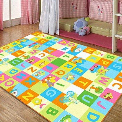 Colorful Animal Print Rug For Kids Room