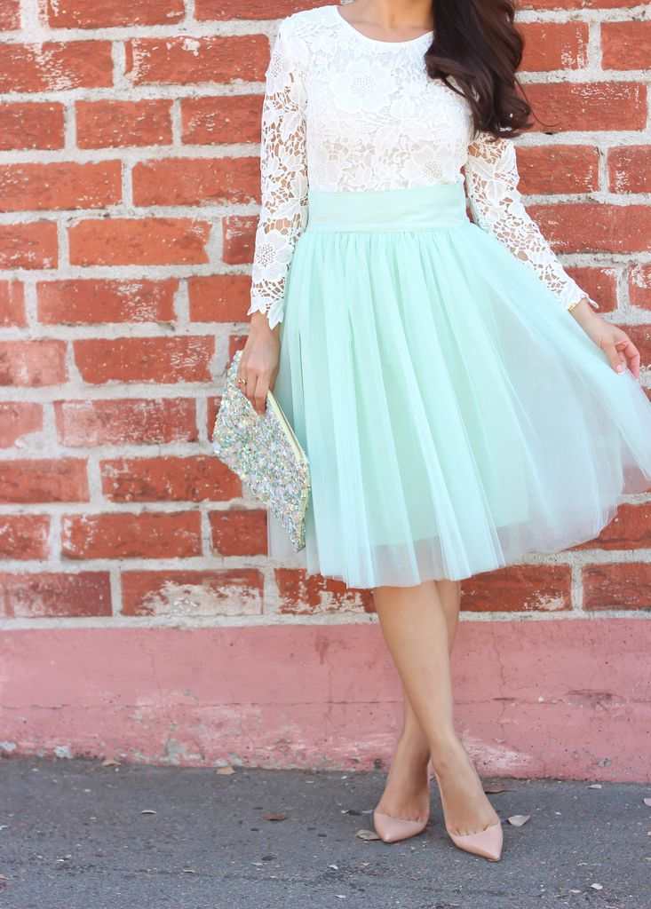 Aliexpress.com : Buy High Popular Mint Green Skirt Satin Waist A ...