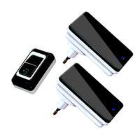 Waterproof Doorbell EU Plug In Wireless Door Bell Push Button With 1 Ourdoor Transmitter 2 Indoor