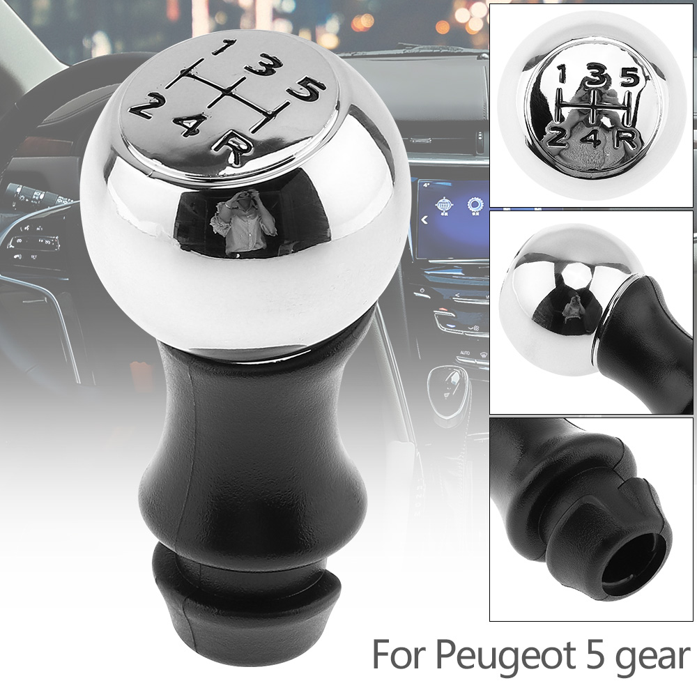 new-design-5-speed-stainless-steel-plastic-manual-transmission-gear-shiftl-knob-for-peugeot-sega-triumph-font-b-senna-b-font-elysee-picasso