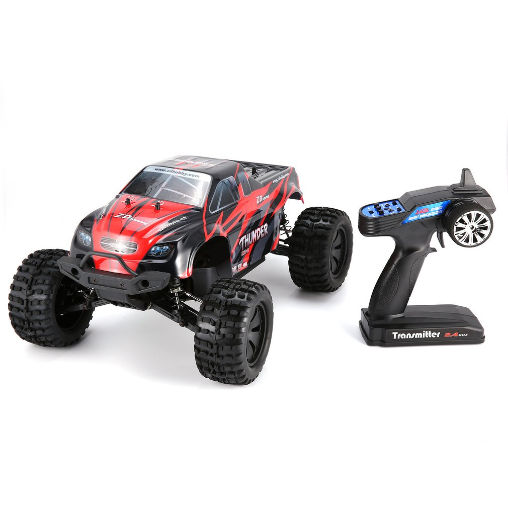 1/10 Thunder 4WD Brushless 70Km/H Auto Da Corsa del RC Bigfoot Buggy Truck RTR Giocattoli del Veicolo di Controllo Remoto Arrampicata RC Auto modello di US/EU
