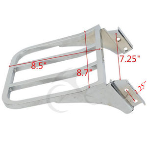 Image 4 - Motorcycle Luggage Rack Rear Carrier For Harley Sportster XL 883 1200 Dyna Fat Boy FXD FXDB FXDL Softail Fatboy