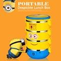 Crianças portáteis Tigelas De Aço Inoxidável Caixa de Almoço Dos Desenhos Animados ME2 Multicamadas Japonês Bento Louça Portátil Frete Grátis