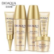 BIOAQUA Travel Set Snail Extract Skin Care Kits Hydrating Moisturizing Serum Lotion Toner BB Cream Eye Cream 5PCS/Set