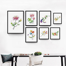 Simple And Elegant Abstract Lines Of Flowers A4 Oil Canvas Painting Art Print Poster Picture Mural Modern Home Decoration OT074