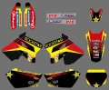 0553 Star New Style TEAM DECALS STICKERS  Graphics&Backgrounds Kits for  Suzuki RM125 RM250 2001 - 2011 2012