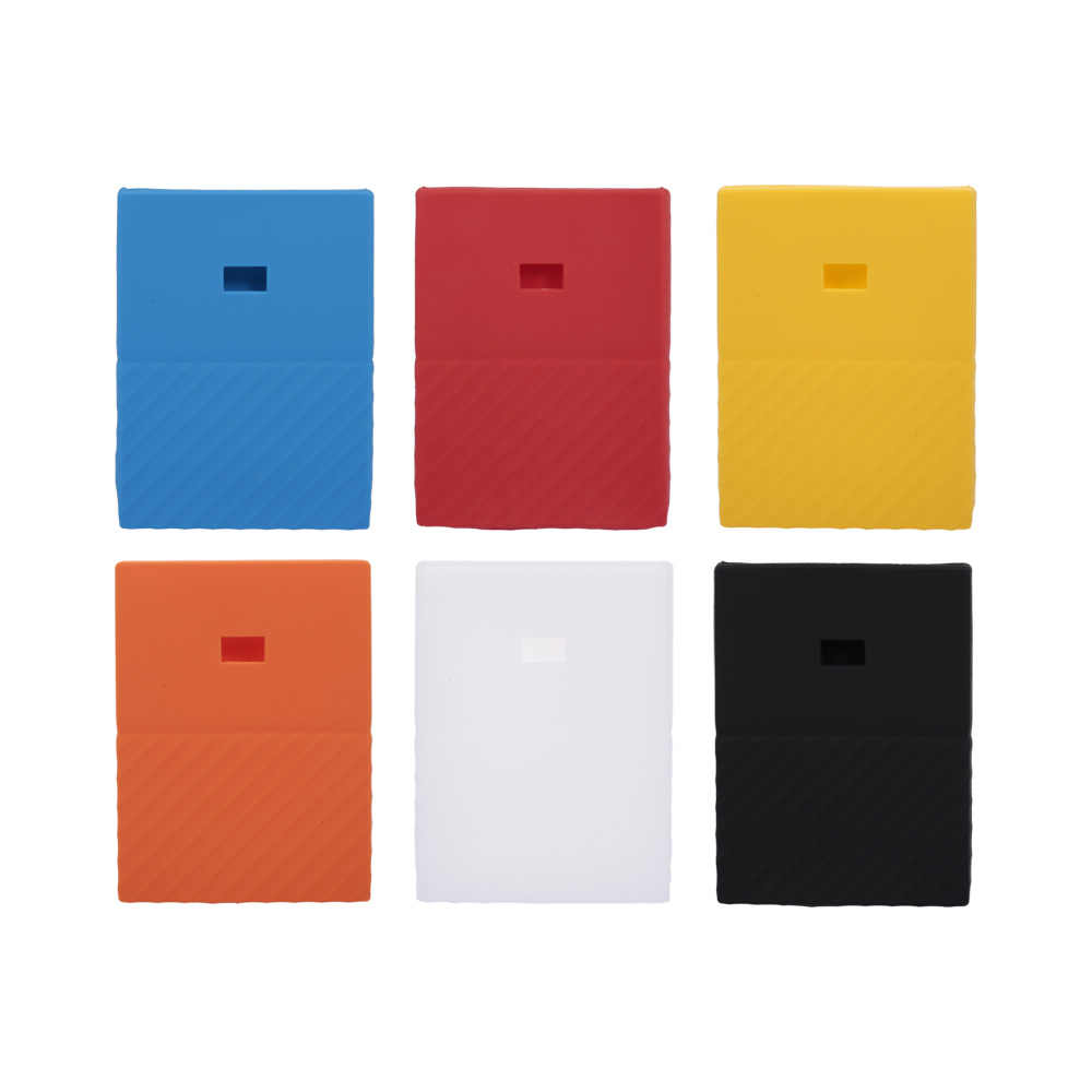 Hard Drive Silicone Case Hard Disk Antislip Beschermende Cover Scratch Shock Proof Protector SSD Schede Voor WD Mypassport 1 t 2 T