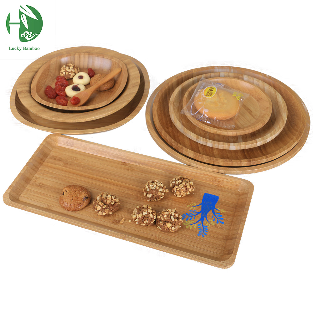 Natural bamboo fruit plates dried wood trays snack candy for Cuisine wooden