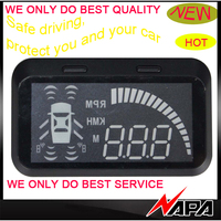 Hot selling car hud head up display with front and reversing sensor bsd blind spot detection obd connecter for hyundai Kia