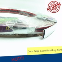 15mm Chrome Trim Molding Strips Front Grill Exterior Car Styling Protector Door Silver Crashworthy Decoration 3