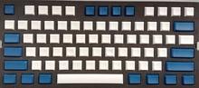 Pbt das пустой белого и синего цвета колпачки для 61/87/104/108 minila Игры Механическая клавиатура