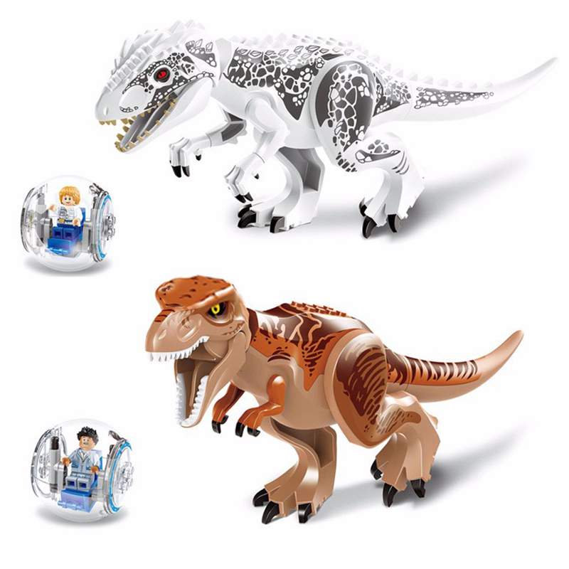 2Pcs/lot LELE 79151 Jurassic Dinosaur Figures Toy Set Tyrannosaurs Rex Building Block Bricks Toys Compatible With Legoe Dragon 2 sets jurassic world tyrannosaurus building blocks jurrassic dinosaur figures bricks compatible legoinglys zoo toy for kids