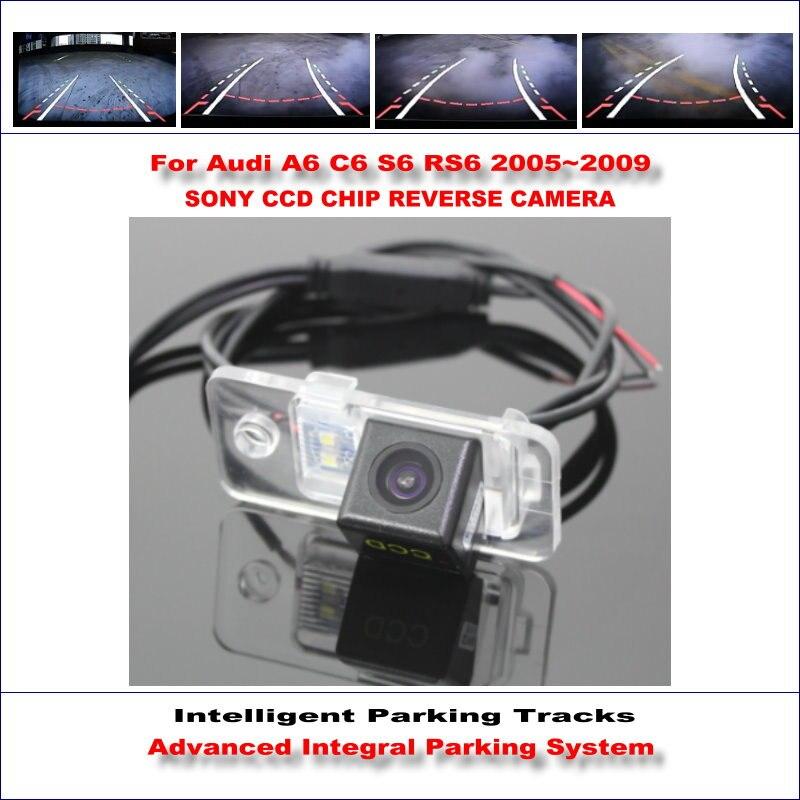 Интеллектуальная камера заднего вида для Audi A6 C6 S6 RS6 2005 ~ 2009 заднего вида Резервное копирование/580 ТВ линий динамического наведения треков