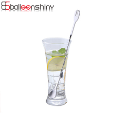 BalleenShiny Stainless Steel Cocktail Bar Spoons Spiral Pattern Drink Shaker Spoon Muddler Stirrer Stirring Twisted Mixing Spoon