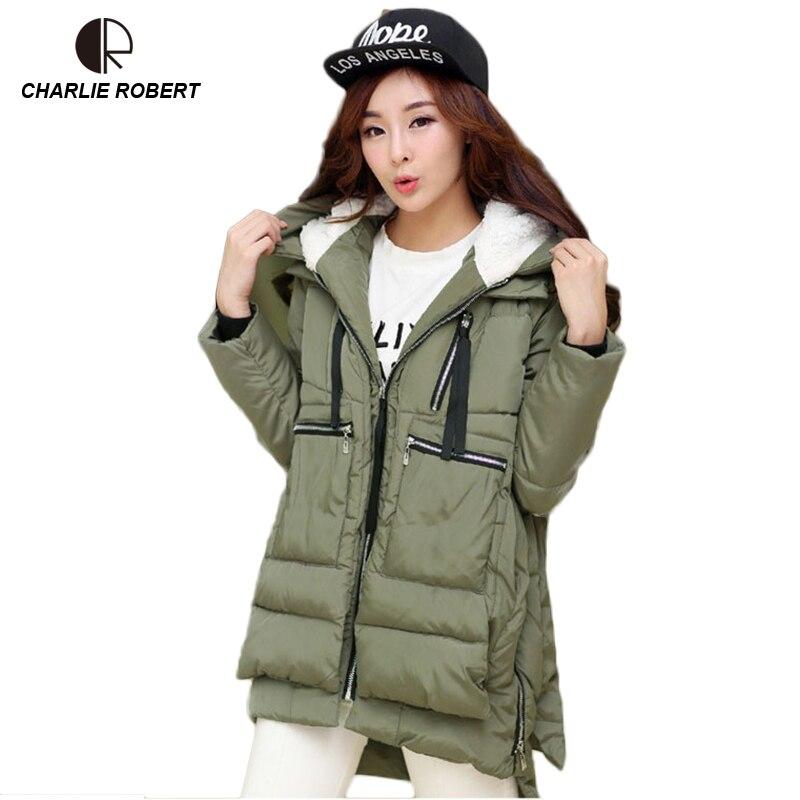 CR New New Winter Jacket Women Down Casual Winter Coats Plus Size 5XL Hooded   Parka   Coat Long Style Womens Jackets