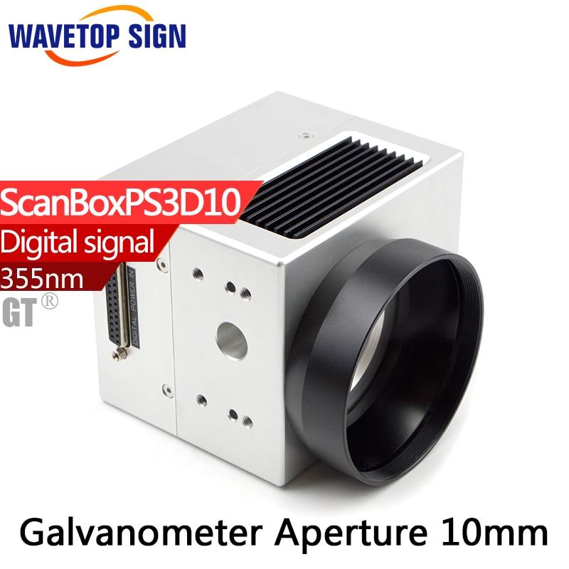 355nm Ultraviolet laser Digital scanning galvanometer scanbox aperture 10mm ECONOMIC type Ultraviolet use for UV laser sacndre10 digital galvanometer wavelength 1064nm yag laser module use xy2 100 protocol