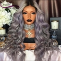 8A Full Lace Human Hair Wigs For Black Women T1b/grey Ombre Lace Front Human Hair Wigs 150% Density Silver Grey Lace Frontal Wig